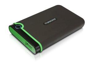 耐衝撃 USB3.0対応 2TB ポータブルHDD Transcend TS2TSJ25M3 がタイムセール特価