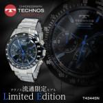【ポイントバック】テクノス TECHNOS クオーツ メンズ クロノ 腕時計 T4344SN